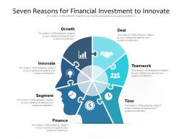 Seven Reasons For Financial Investment To Innovate