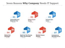 Seven Reasons Why Company Needs IT Support