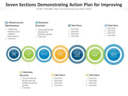 Seven Sections Demonstrating Action Plan For Improving
