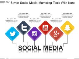 Seven Social Media Marketing Tools With Icons
