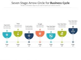 Seven Stage Arrow Circle For Business Cycle