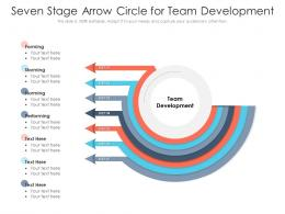 Seven Stage Arrow Circle For Team Development