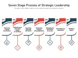 Seven Stage Process Of Strategic Leadership