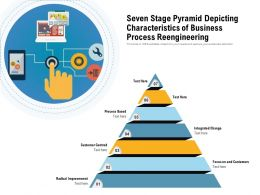 Seven Stage Pyramid Depicting Characteristics Of Business Process Reengineering