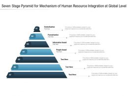 Seven Stage Pyramid For Mechanism Of Human Resource Integration At Global Level