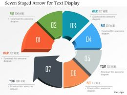 Seven Staged Arrow For Text Display Powerpoint Template