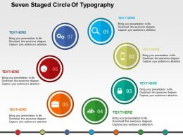 Seven Staged Circle Of Typography Flat Powerpoint Design