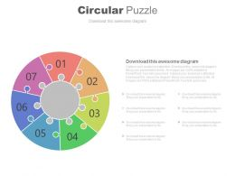 Seven Staged Circular Puzzle For Business Process Powerpoint Slides