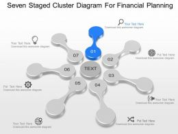 Seven Staged Cluster Diagram For Financial Planning Powerpoint Template Slide