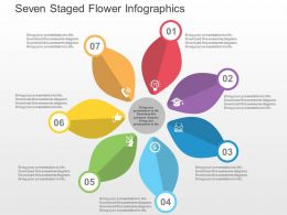 Seven Staged Flower Infographics Flat Powerpoint Design