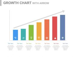 Seven Staged Growth Chart With Icons Powerpoint Slides