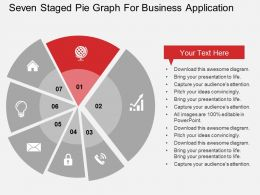 seven_staged_pie_graph_for_business_application_flat_powerpoint_design_Slide02