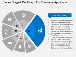 seven_staged_pie_graph_for_business_application_flat_powerpoint_design_Slide03
