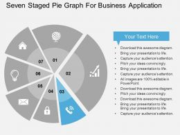 seven_staged_pie_graph_for_business_application_flat_powerpoint_design_Slide04