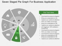 seven_staged_pie_graph_for_business_application_flat_powerpoint_design_Slide05