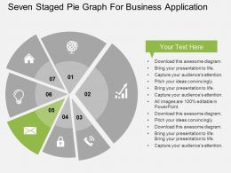 seven_staged_pie_graph_for_business_application_flat_powerpoint_design_Slide06