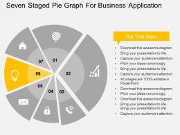 seven_staged_pie_graph_for_business_application_flat_powerpoint_design_Slide07