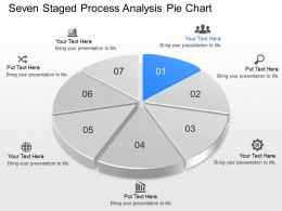 Seven Staged Process Analysis Pie Chart Powerpoint Template Slide