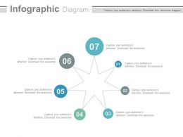 Seven Staged Star Infographics Diagram Flat Powerpoint Design