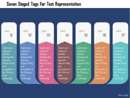 Seven Staged Tags For Text Representation Flat Powerpoint Design