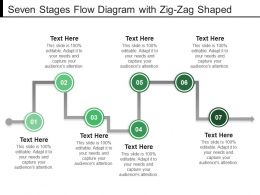 Seven Stages Flow Diagram With Zig Zag Shaped