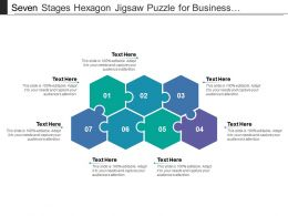 Seven Stages Hexagon Jigsaw Puzzle For Business Presentation