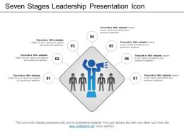 Seven Stages Leadership Presentation Icon