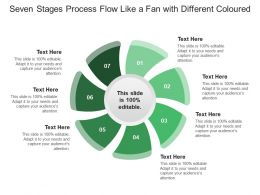 Seven Stages Process Flow Like A Fan With Different Coloured