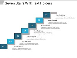 Seven Stairs With Text Holders