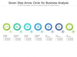 Seven Step Arrow Circle For Business Analysis