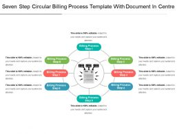 Seven Step Circular Billing Process Template With Document In Centre