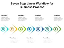 Seven Step Linear Workflow For Business Process