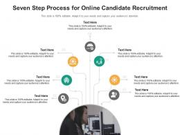 Seven Step Process For Online Candidate Recruitment Infographic Template
