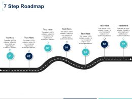 Seven Step Roadmap F884 Ppt Powerpoint Presentation Slides Graphics Download