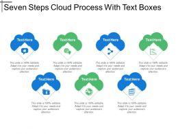 Seven Steps Cloud Process With Text Boxes