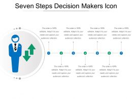 Seven Steps Decision Makers Icon