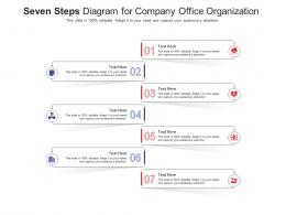 Seven Steps Diagram For Company Office Organization Infographic Template