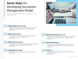 Seven Steps For Developing Succession Management Model