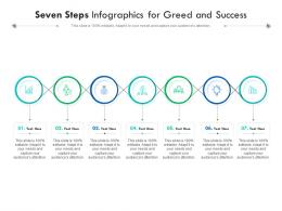 Seven Steps For Greed And Success Infographic Template