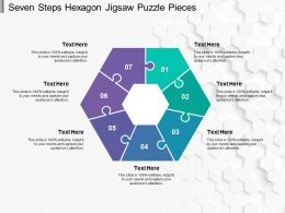 Seven Steps Hexagon Jigsaw Puzzle Pieces