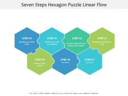 Seven Steps Hexagon Puzzle Linear Flow