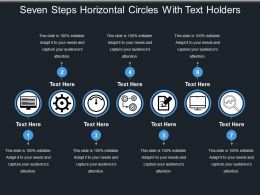 Seven Steps Horizontal Circles With Text Holders