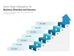 Seven Steps Infographics For Business Direction And Success