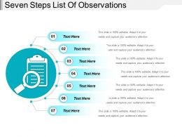 Seven Steps List Of Observations