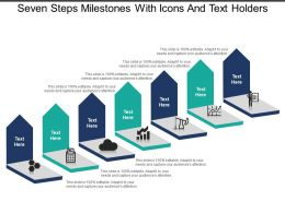 Seven Steps Milestones With Icons And Text Holders