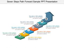 Seven Steps Path Forward Sample Ppt Presentation