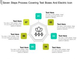 Seven Steps Process Covering Text Boxes And Electric Icon