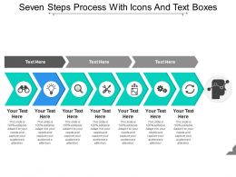 Seven Steps Process With Icons And Text Boxes