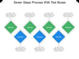 Seven Steps Process With Text Boxes