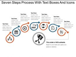 Seven Steps Process With Text Boxes And Icons